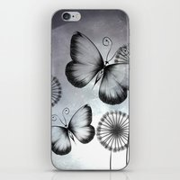 butterflies iPhone & iPod Skins featuring Butterflies by LouJah