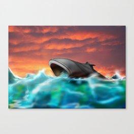Sci-Fi Submarine Adventure Canvas Print