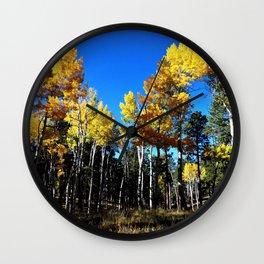 Aspen Leaves Arizona Autumn Wall Clock