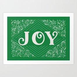 JOY / GREEN Art Print