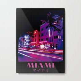 Miami Aesthetic Poster Metal Print