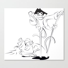 Roger the Cabinboy and his pet monkey Canvas Print