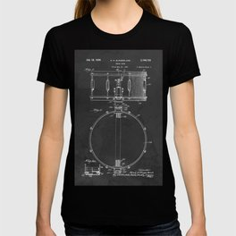 Snare Drum Vintage Patent 1939 Drummer T-shirt