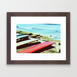 Vintage Longboards Framed Art Print