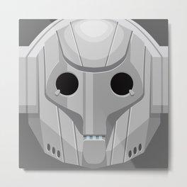 Cyberman - Doctor Who Metal Print