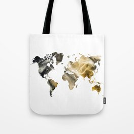 Sandy world map Tote Bag