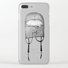 Parskid Flower Clear iPhone Case