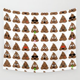 piles of poop in different moods Wall Tapestry