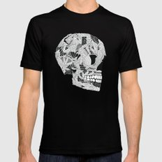 Skull Mens Fitted Tee MEDIUM Black