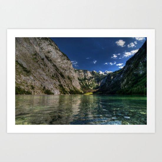 Mountain lake- Alpes Nature Outdoors Mountains Alpes - #Society6 Art Print