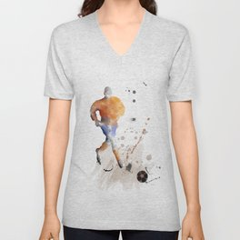 Soccer Player 7 Unisex V-Neck