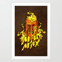 mad Art Prints featuring Mad by Demonigote