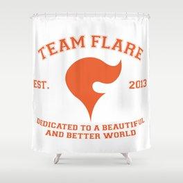 Team Flare Shower Curtain