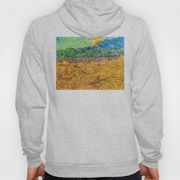 Evening Landscape with Rising Moon by Vincent Van Gogh Hoody