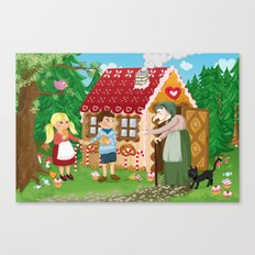 Hansel and Gretel fairy tale series Canvas Print