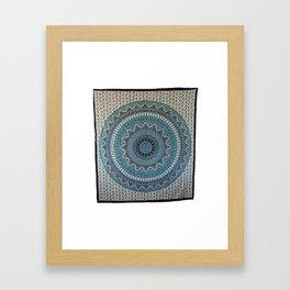 Indian Star Mandala Tapestry Wall Hanging Framed Art Print