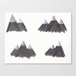 Snow Mountains Canvas Print