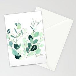 Eucalyptus leaves botanical illustration Stationery Cards