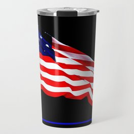 These Colors Never Run - American Flag Patriotic, Red White & Blue, Stars & Stripes, Old Glory Travel Mug