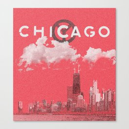 Chicago - Red Canvas Print