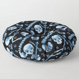 Dem Bones - Black Floor Pillow