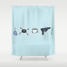 FitzSimmons Objects Shower Curtain