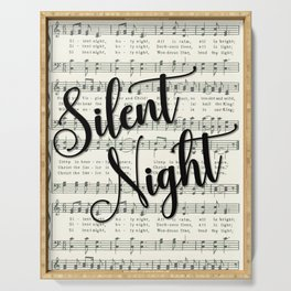 Silent Night Serving Tray