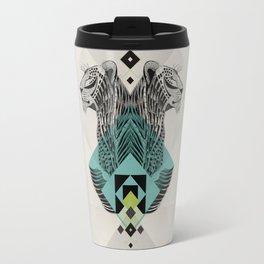 Blue Leopard Travel Mug