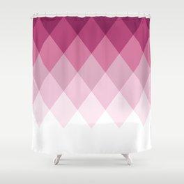 Rose Diamonds Shower Curtain