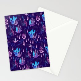 Neon Cacti Stationery Cards