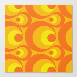 Crazy Orange Circles Canvas Print