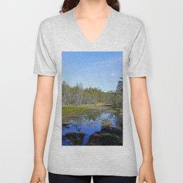 Silent Marshes Unisex V-Neck