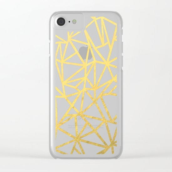 Ab Marb Gold Clear iPhone Case