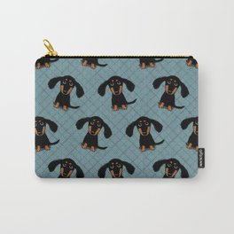 Cute Dachshund Puppy | Black and Tan Wiener Dog Carry-All Pouch