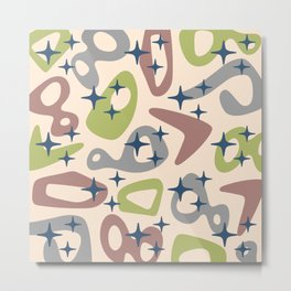Retro Mid Century Modern Abstract Composition 930 Metal Print