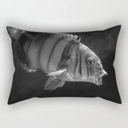 Clown Fish (Black and White) Rectangular Pillow
