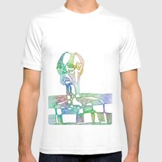 Slice of Life White MEDIUM Mens Fitted Tee