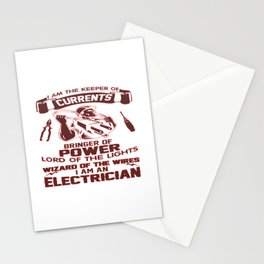 I AM AN ELECTRICIAN Stationery Cards