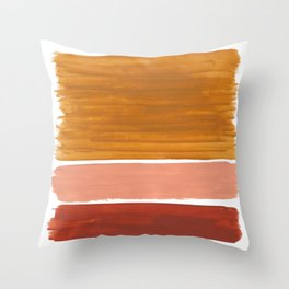 Rothko Minimalist Colorield Warm Earth Tone Yellow Ochre Clay Beige by Ejaaz Haniff Throw Pillow