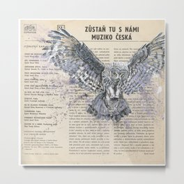 His Master's Voice - The Owl Metal Print
