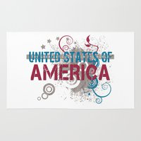 america Area & Throw Rugs featuring America by politics