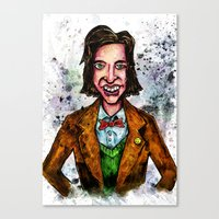 wes anderson Canvas Prints featuring Wes Anderson by Grant Hunter