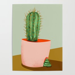 funny cactus Poster