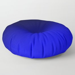 Black Blue Neon Nights Ombre Floor Pillow
