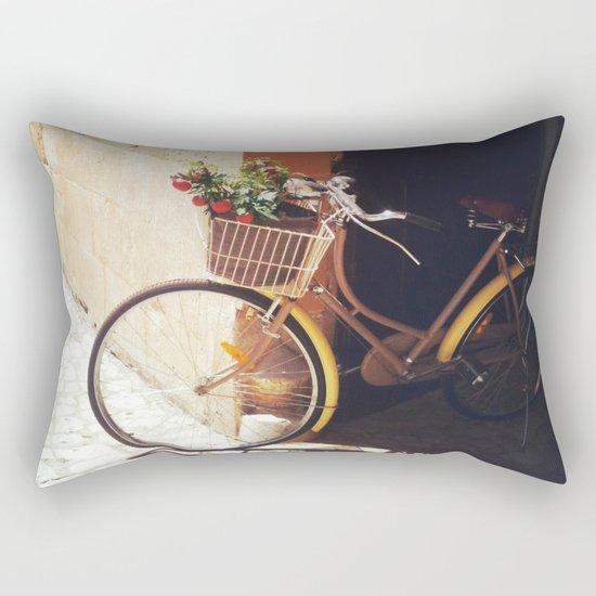Yellow Bicycle Rectangular Pillow