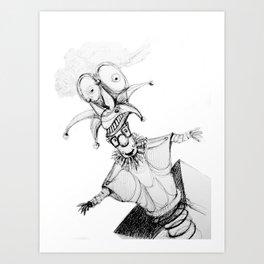 THE JOKERS PUPPET Art Print