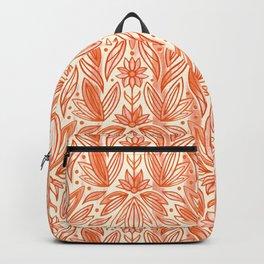 Rococo Peachy Orange Art Deco  Backpack