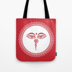 Swayambhu Eyes Tote Bag