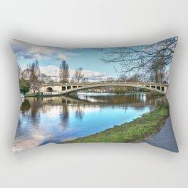 Reading Bridge Rectangular Pillow