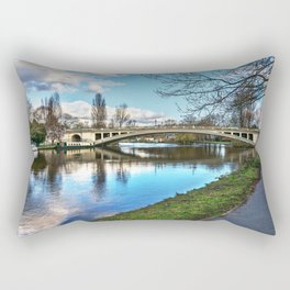 Reading Bridge Rectangular Pillow